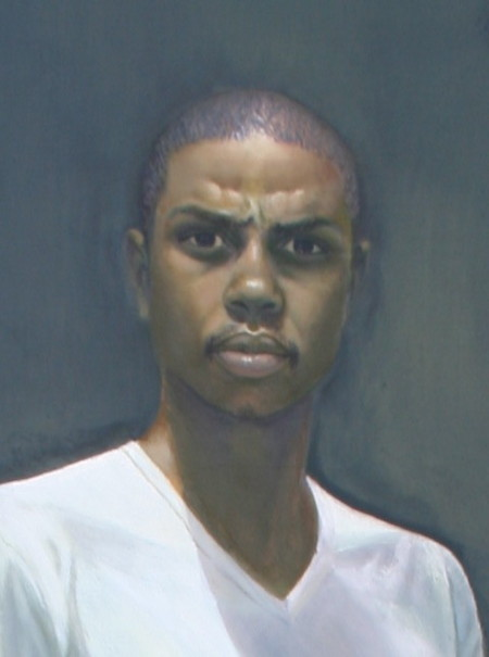 Buntu Qina Self Portrait, Oil on canvas