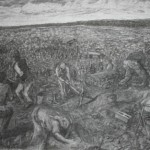 Dinile Qapa, Dump Site, Charcoal on paper